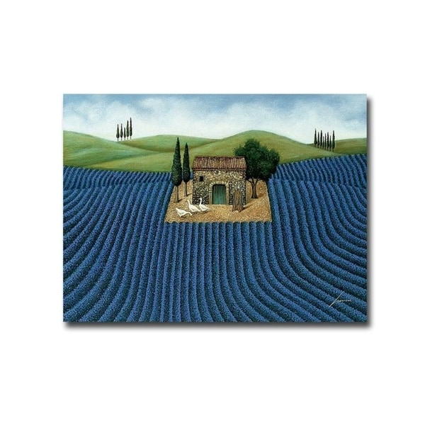 Lavender Field by Lowell Herrero Gallery Wrapped Canvas Giclee Art (18 in x 24 in, Ready to Hang)