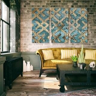 Gilded Geometrics I-A Premium Multi Piece Art available in 3 sizes
