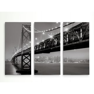 Bay Bridge At Night-A Premium Multi Piece Art available in 3 sizes