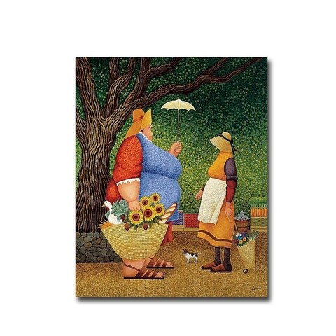 Market Day by Lowell Herrero Gallery Wrapped Canvas Giclee Art (20 in x 16 in, Ready to Hang)
