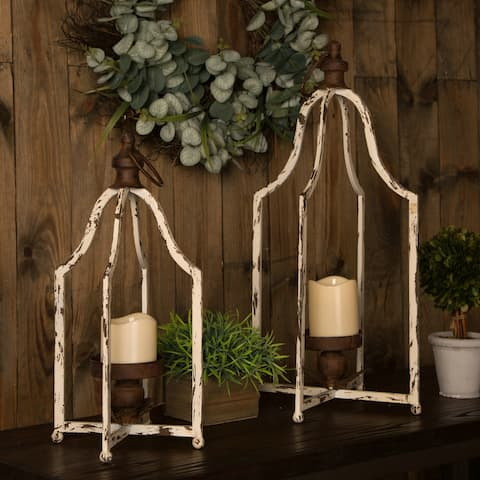 Glitzhome Farmhouse Metal Lantern