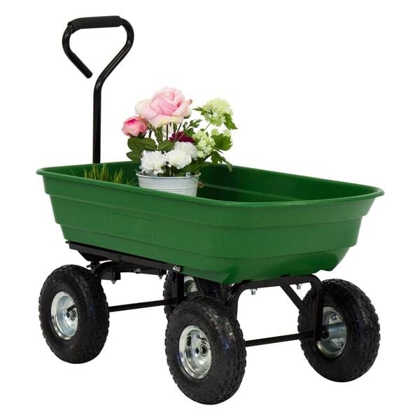 Shop Kinbor 600lb Garden Dump Cart Utility Garden Wagon w