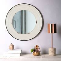 Glitzhome Farmhouse Metal Enamel Wall Mirror