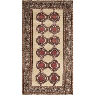 "Gabbeh Modern Hand Made Wool Shiraz Persian Area Rug Tribal Carpet - 7'2"" x 3'10"""