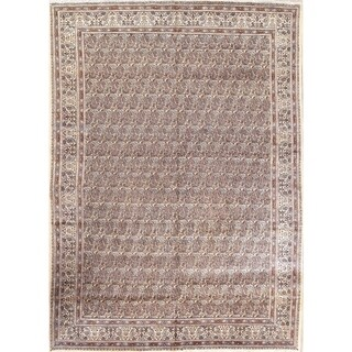 "Vintage Geometric Mood Persian Hand Made Paisley Area Rug - 11'6"" x 8'3"""