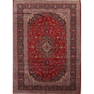 "Kashan Hand Made Traditional Persian Medallion Area Rug Vintage - 13'3"" x 9'9'"