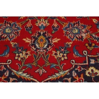 "Vintage Kashan Persian Floral Hand Made Traditional Medallion Area Rug - 12'9"" x 10'"