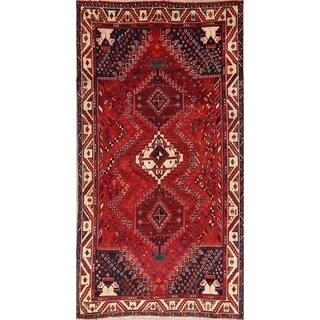 "Vintage Hand Made Vintage Traditional Abadeh Shiraz Persian Area Rug - 9'4"" x 4'10"""