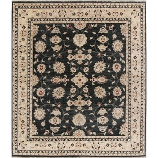 """Oushak Peshawar Floral Hand Knotted Traditional Oriental Area Rug - 9'8"""" x 8'3"""""""