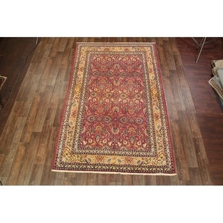 """Hand Knotted Wool Antique Tehran Persian Floral Area Rug - 11'5"""" x 7'3"""""""