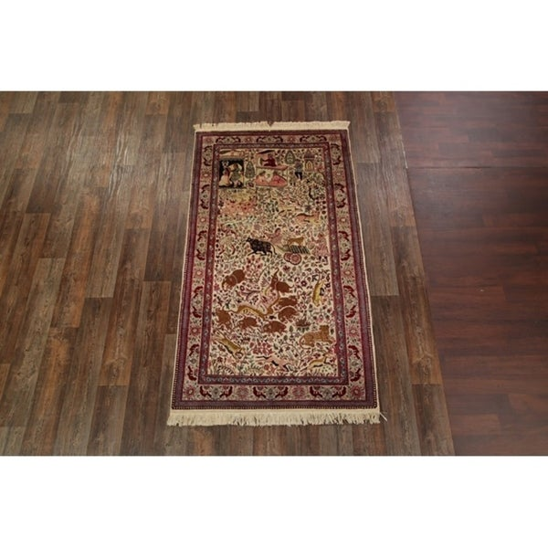 "Agra Jaipur Traditional Hand Knotted Floral Vintage Oriental Area Rug - 7'9"" x 4'3"""