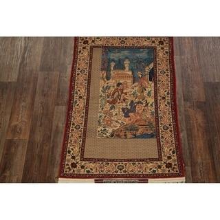 "Antique Traditional Seirafian Hand Made Isfahan Persian Area Rug - 5'5"" x 3'4"""