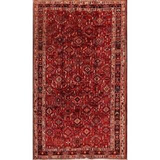 "Abadeh Hand Made Geometric Traditional Vintage Shiraz Persian Area Rug - 8'8"" x 5'3"""
