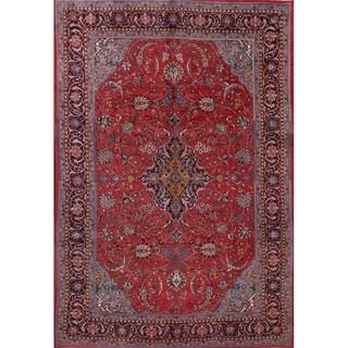 "Sarouk Floral Hand Made Wool Persian Oriental Area Rug - 11'10"" x 7'11"""