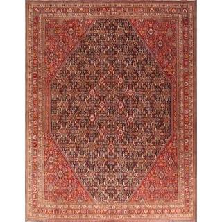 "Hand Made Traditional Kashkoli Shiraz Persian Antique Area Rug - 13'1"" x 10'"