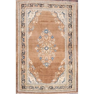"Vintage Mahal Floral Hand Made Traditional Sarouk Persian Area Rug - 6'5"" x 4'4"""