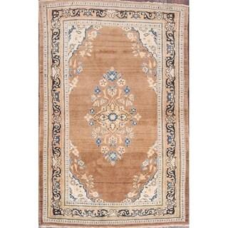 "Vintage Mahal Floral Hand Made Traditional Sarouk Persian Area Rug - 6'5"" x 4'4"""