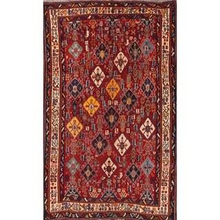 "Antique Hand Made Traditional Kashkoli Shiraz Persian Area Rug - 7'9"" x 4'11"""
