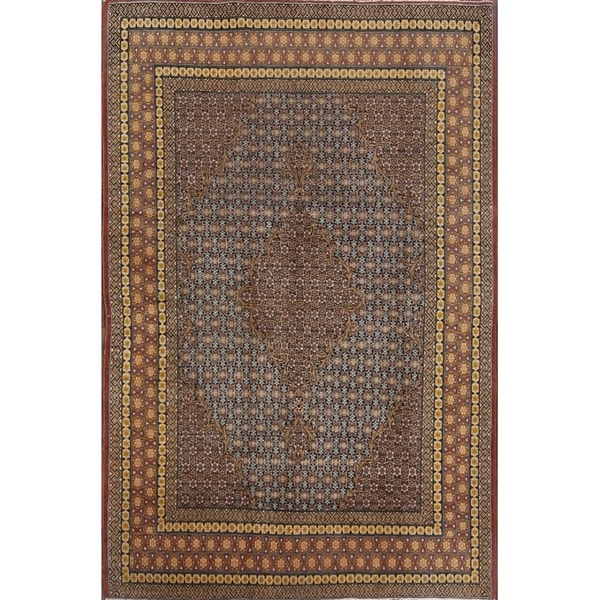 "Vintage Kerman Traditional Hand Made Wool Persian Area Rug - 7'0"" x 4'7"""