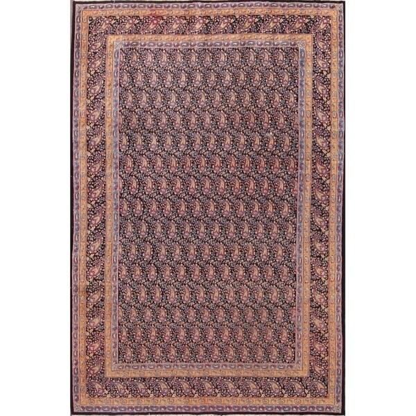 "Vintage Hand Made Traditional Kerman Persian Paisley Area Rug Wool - 9'6"" x 6'3"""