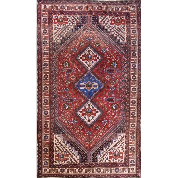 "Abadeh Nafar Persian Antique Area Rug Handmade for Red Carpet - 12'1"" x 7'1"""