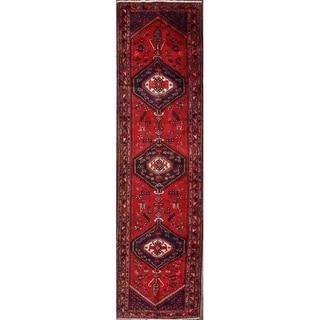 """Classical Hamedan Persian Oriental Hand Made Tribal Rug - 13'7"""" x 3'6"""" runner"""