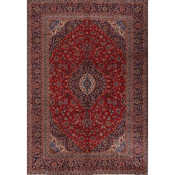 Hand Knotted Persian Kashan Wool Area Rug Ebth: Shop Kashan Persian Hand Knotted Wool Medallion Area Rug