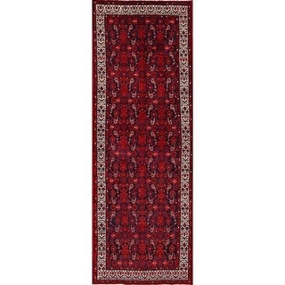 "Hand Made Wool Traditional Hamedan Persian Rug Tribal Carpet - 9'8"" x 3'6"""