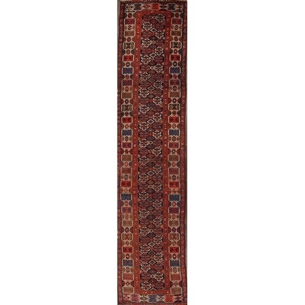 "Kazak Antique Traditional Caucasian Russian Classical Rug Geometric - 15'10"" x 3'3"" runner"