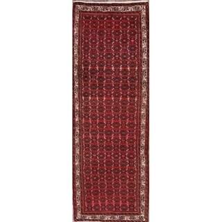 "Traditional Hamedan Persian Oriental Tribal Rug Hand Made Red - 9'6"" x 3'2"" runner"