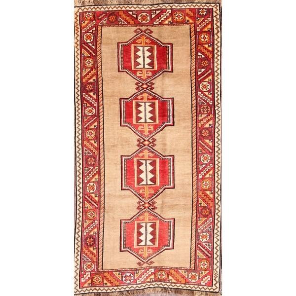 "Traditional Handmade Modern Vintage Gabbeh Ghashghai Persian Area Rug - 7'3"" x 3'9"""