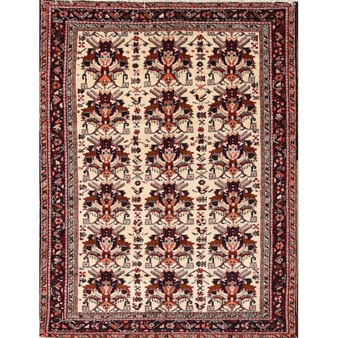 "Hand Made Wool Traditional Gharajeh Persian Floral Area Rug - 6'5"" x 5'0"""