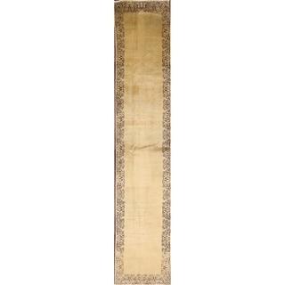 "Vintage Traditional Handmade Wool Tabriz Persian Rug Tribal Carpet - 13'0"" x 2'6"" runner"