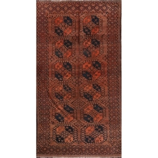 """Balouch Afghan Geometric Hand Knotted Antique Oriental Area Rug - 10'8"""" x 5'9"""""""