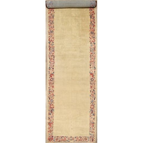 """Antique Extra Long Hand Knotted Sultanabad Sarouk Persian Floral Rug - 28'6"""" x 5'9"""" runner"""