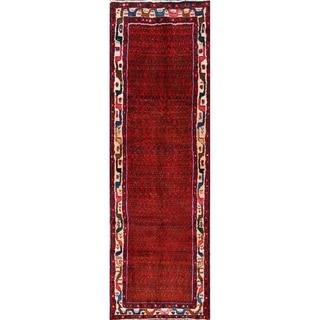 "Handmade Wool Traditional Zanjan Boteh Persian Tribal Rug - 9'7"" x 3'1"" runner"