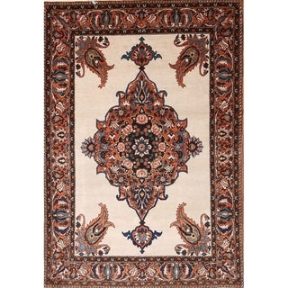 """Vintage Hand Knotted Traditional Bakhtiari Persian Geometric Area Rug - 6'11"""" x 4'7"""""""