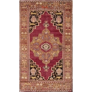 "Oushak Turkish Antique Oriental Hand Knotted Wool Area Rug Red - 6'7"" x 3'10"""
