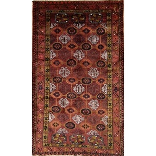 "Vintage Hand Made Traditional Shiraz Persian Oriental Area Rug - 7'3"" x 4'4"""