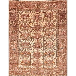 "Hand Knotted Wool Gharajeh Persian Oriental Geometric Rug - 6'2"" x 4'7"""