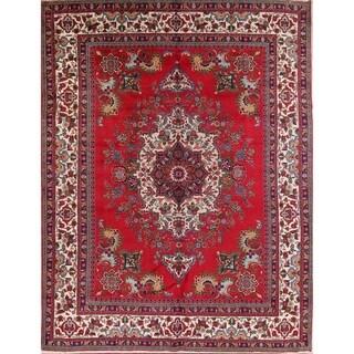 "Geometric Hand Made Traditional Tabriz Persian Area Rug - 12'9"" x 9'9"""