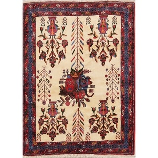 """Hand Knotted Traditional Shiraz Persian Area Rug - 6'1"""" x 4'5"""""""