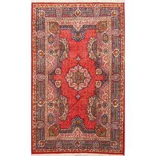 "Sarouk Hand Knotted Wool Persian Oriental Geometric Area Rug - 7'4"" x 4'7"""