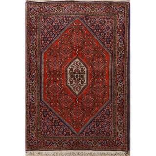 "Vintage Bidjar Persian Hand Knotted Traditional Geometric Area Rug - 5'4"" x 3'8"""