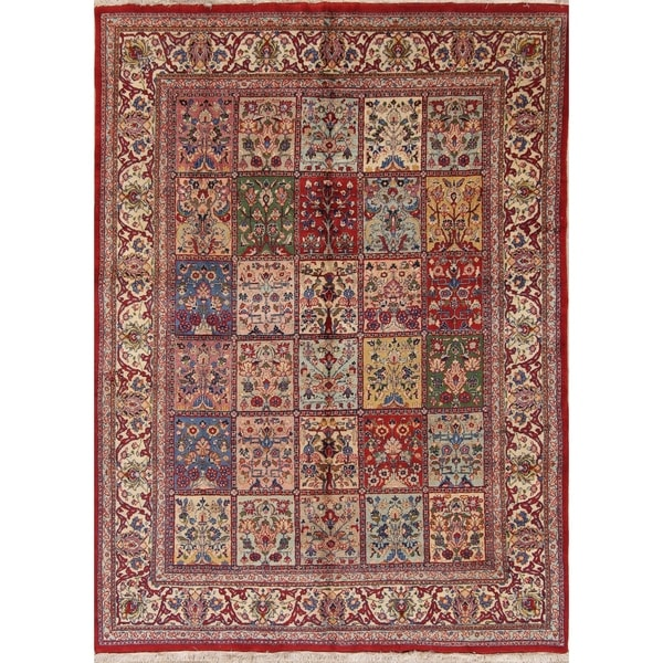 "Classical Sarouk Persian Hand Made Floral Area Rug Vintage Red - 9'10"" x 6'3"""