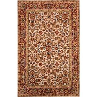 """Vintage Oushak Turkish Oriental Handmade Wool Floral Area Rug - 12'4"""" x 7'9"""""""