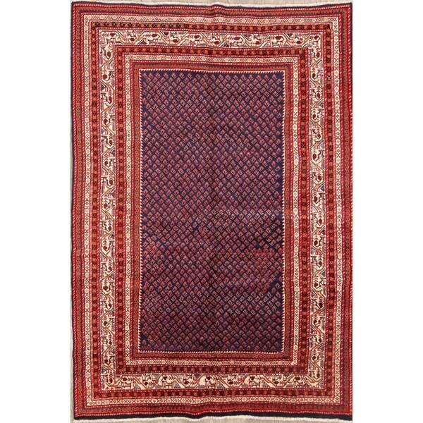 "Botemir Persian Hand Made Wool Traditional Geometric Area Rug - 10'2"" x 6'6"""