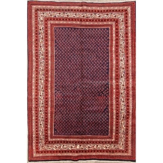 "Botemir Persian Hand Made Wool Traditional Geometric Area Rug - 10'2"" x 6'6"""