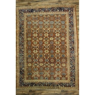 """Pre-1900 Antique Sultanabad Hand Knotted Traditional Persian Area Rug - 12'0"""" x 8'10"""""""