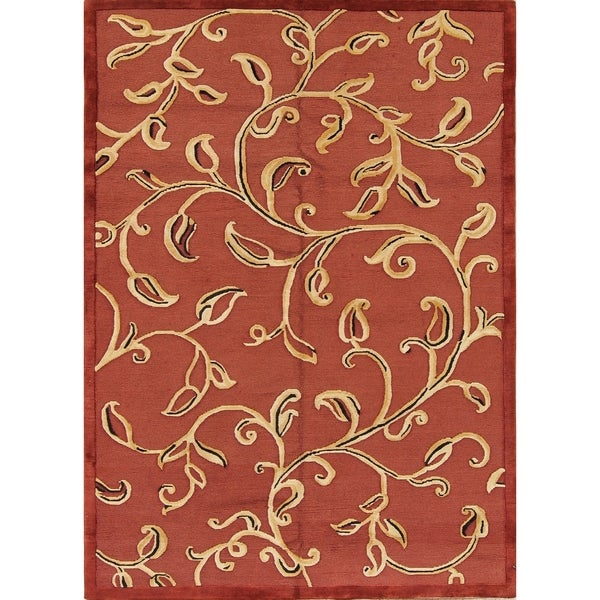 Shop Porch Amp Den Adagio Hand Knotted Floral Wool